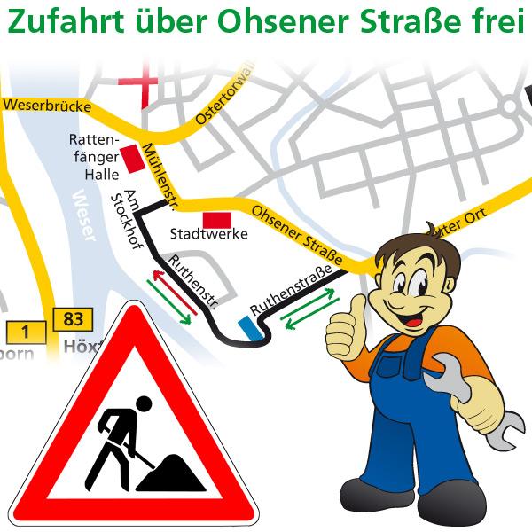 Baustelle Ruthenstraße, Hameln